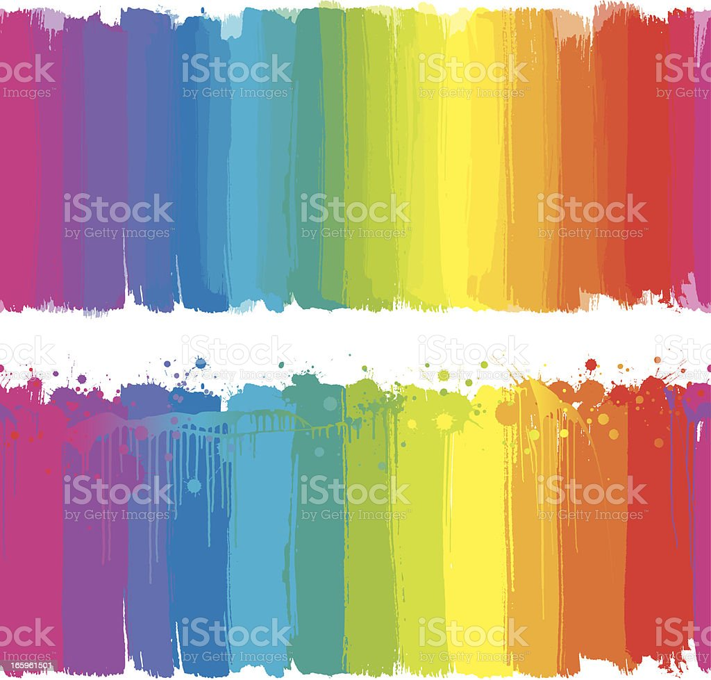 Rainbow paint strokes vector art illustration