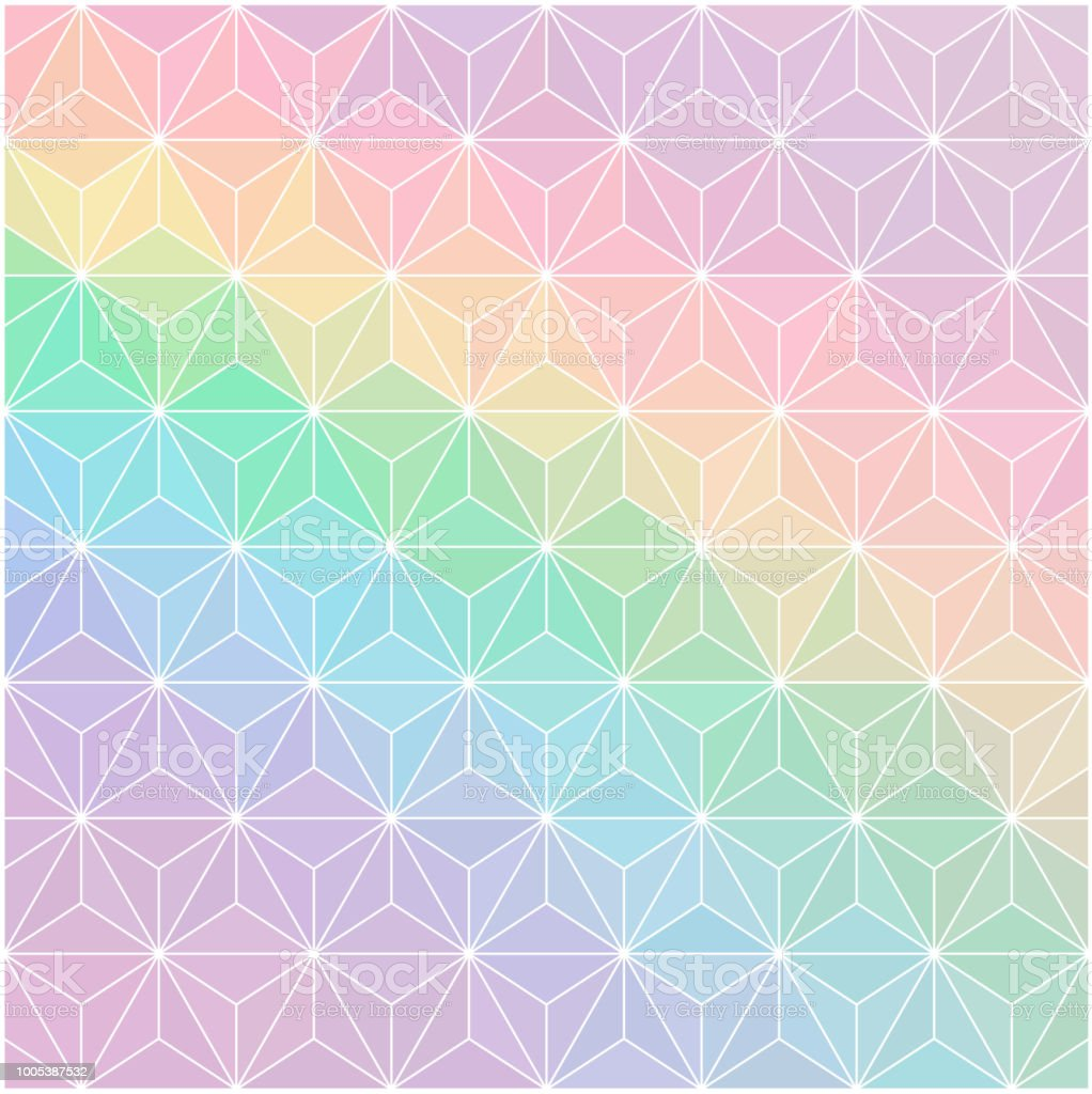 Rainbow Pastel Colourabstract Background Consisting Of Triangles ...