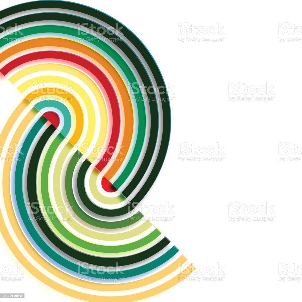 rainbow pattern background vector art illustration
