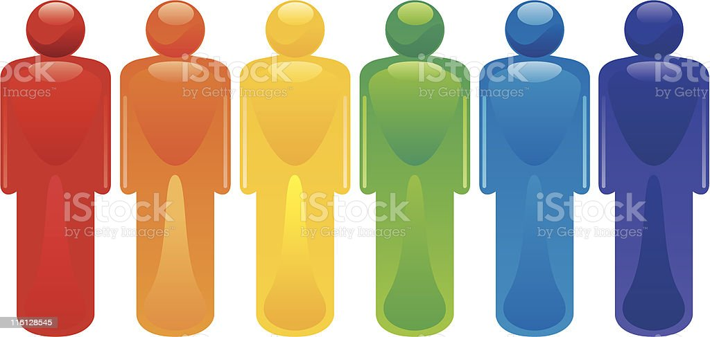Rainbow People royalty-free stock vector art