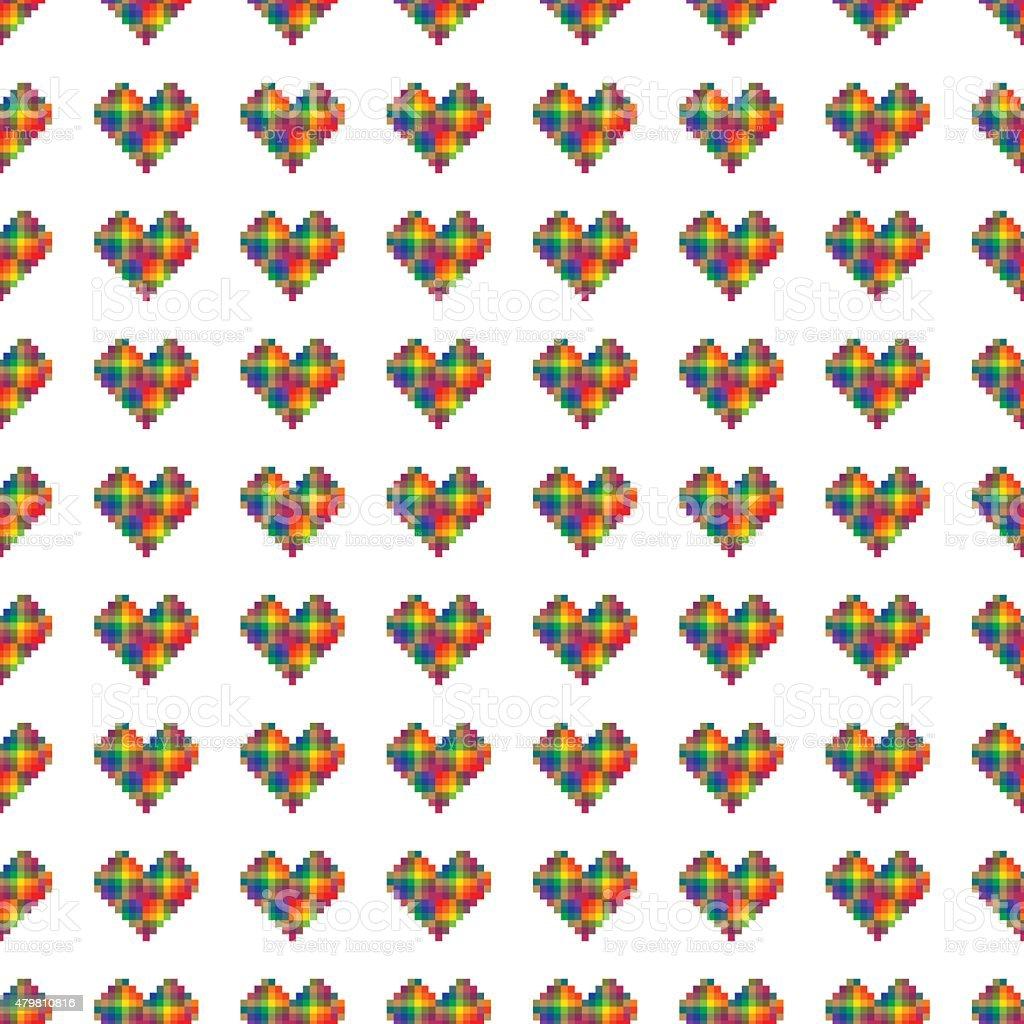 Motif Pixel Coeur Arcenciel Vecteurs Libres De Droits Et