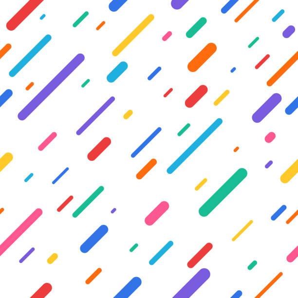 stockillustraties, clipart, cartoons en iconen met regenboog regen naadloze achtergrond - parallel