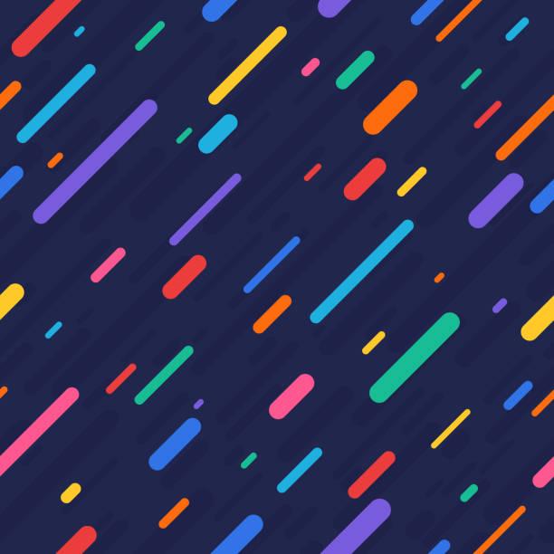 rainbow rain seamless background - szałowy stock illustrations