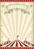 rainbow red circus vintage