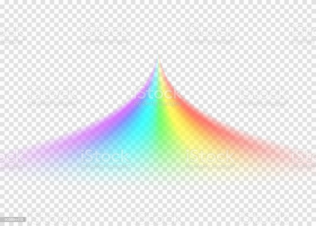 Rainbow Notes On Light Background Stock: Rainbow Road Isolated On Light Transparent Background