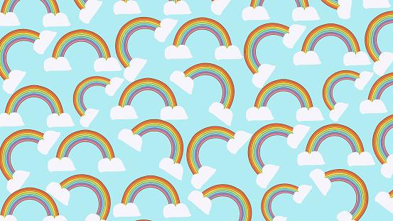 Rainbow Seamless Pattern Background