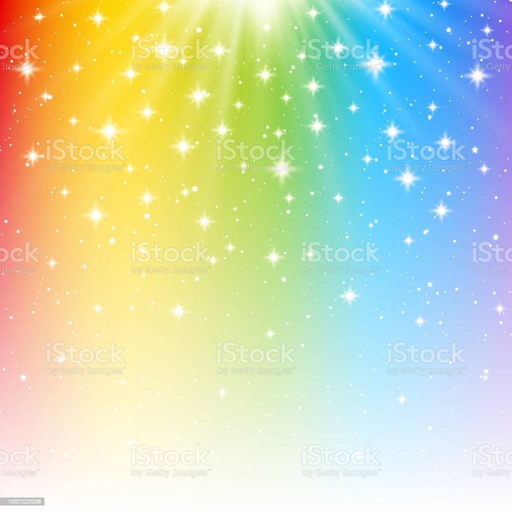 あなたの明るいデザインの虹光沢のある背景 お祝いのベクターアート
