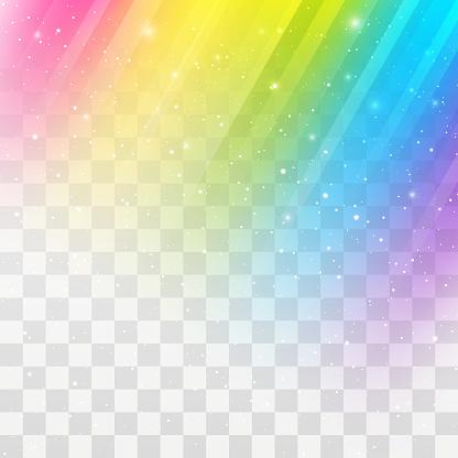 Rainbow shiny gradient design element on transparent background