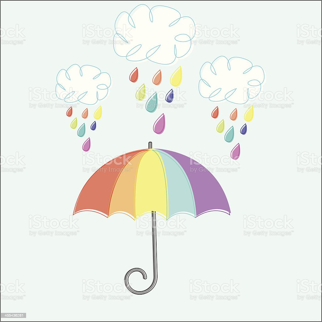 Rainbow Shower vector art illustration