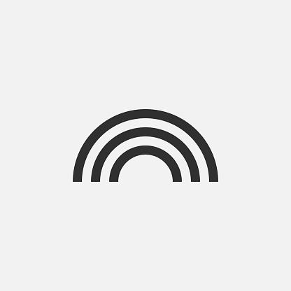 Rainbow sign icon isolated on white background. Vector illustration.