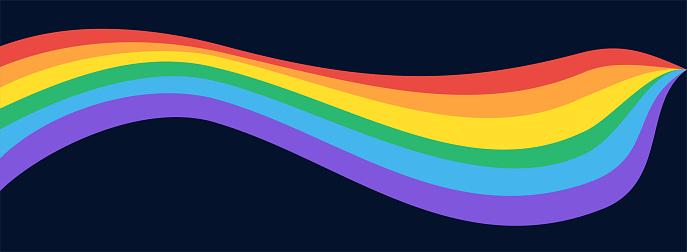 LGBTQI Rainbow sinuous flag, background