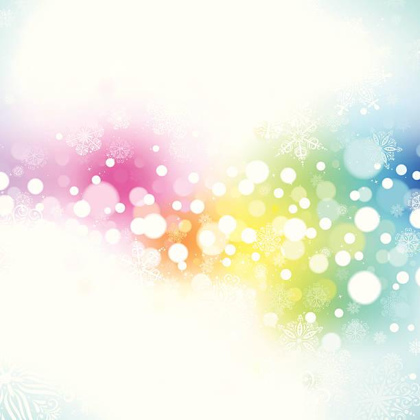 Rainbow Snow Holiday Background. EPS8 vector art illustration