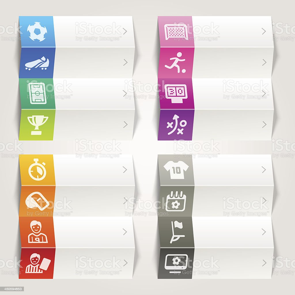 Rainbow - Soccer and Sport Icons / Navigation Template royalty-free stock vector art