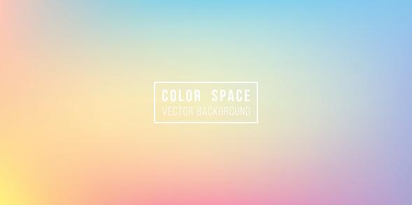 Rainbow Soft Color Space Defocus Smooth Gradient Background