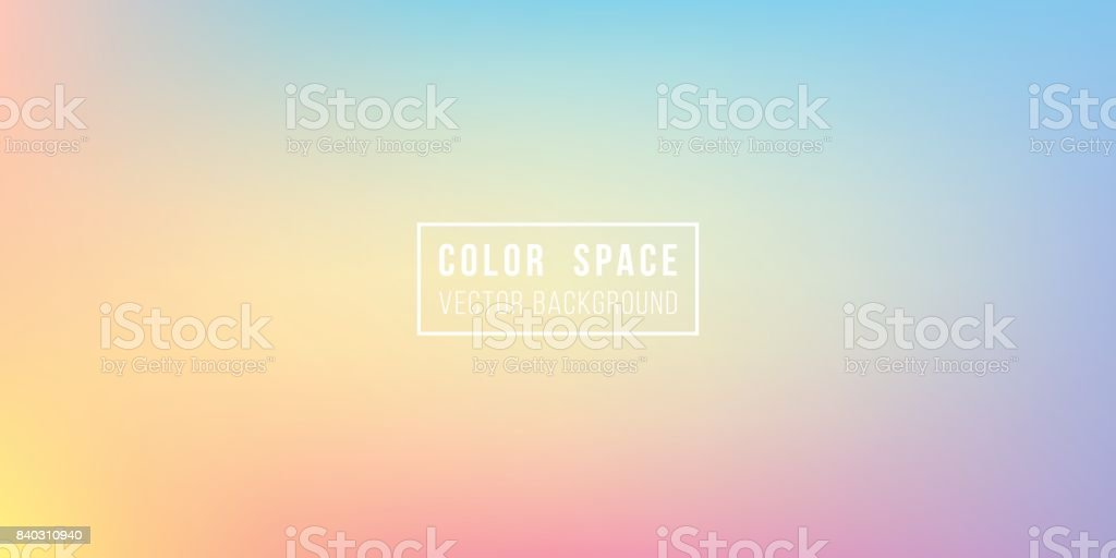 Rainbow Soft Color Space Defocus Smooth Gradient Background vector art illustration