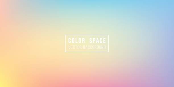 rainbow soft color space defocus smooth gradient background - виньетка stock illustrations