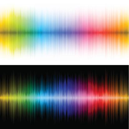 Rainbow soundwave backgrounds