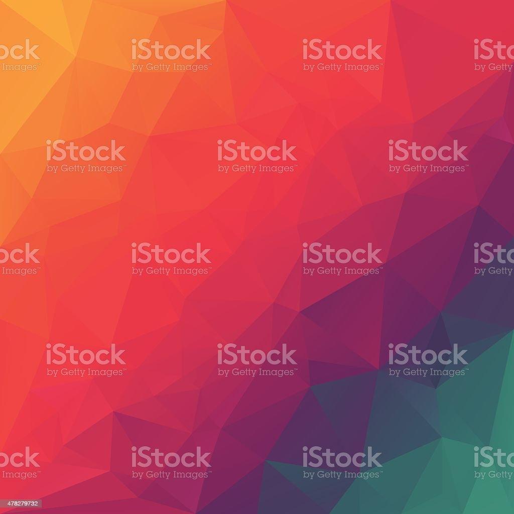rainbow spectrum red blue polygonal triangular pattern background vector art illustration