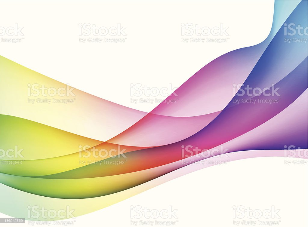 Rainbow Spectrum wave background royalty-free stock vector art