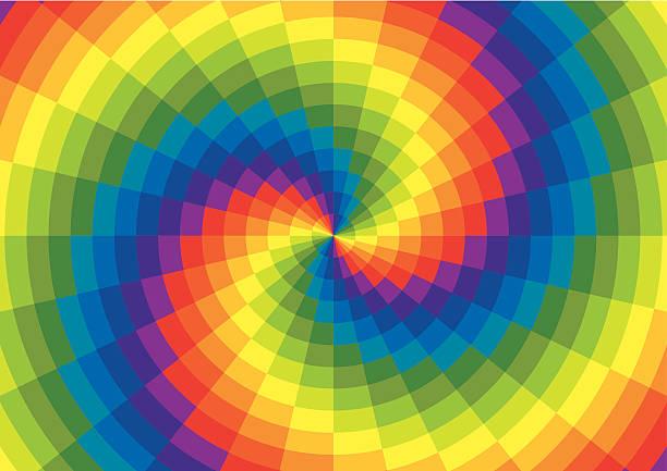 rainbow spiral полярный grid - золотое сечение stock illustrations