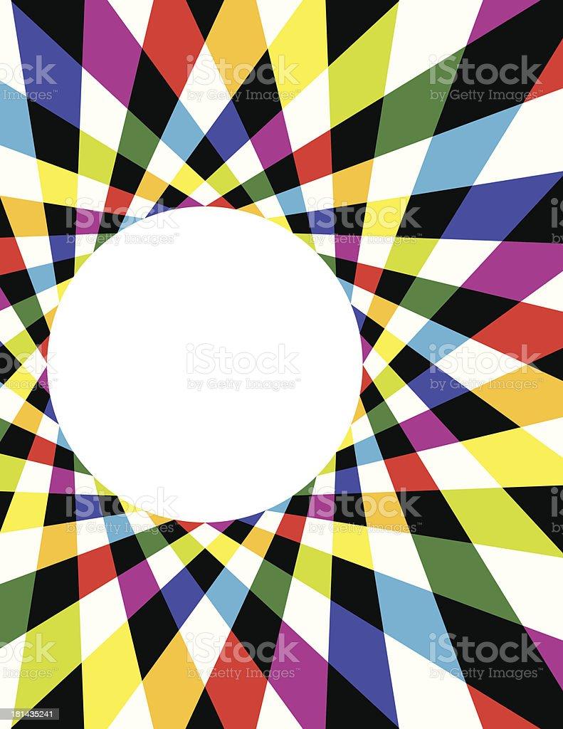 Rainbow Spirograph Background vector art illustration