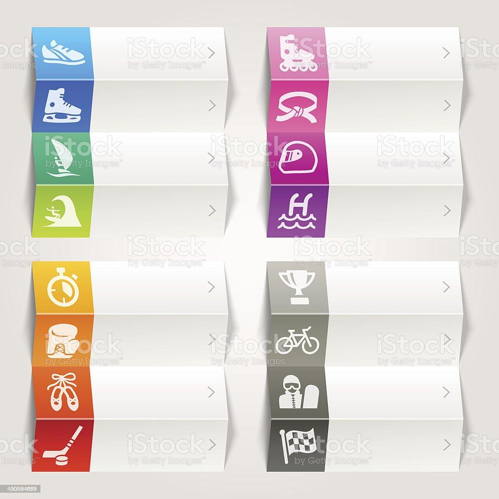 Arco-Íris-Sport icons/modelo de navegação - ilustração de arte em vetor
