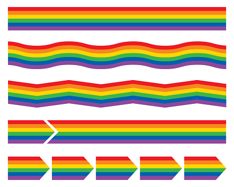 Rainbow Striped Banners