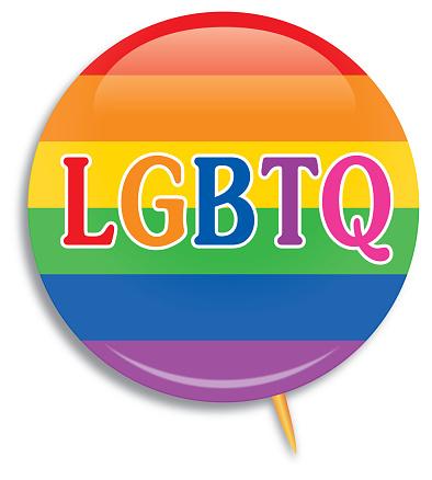 LGBTQ Rainbow Striped Campaign Butto