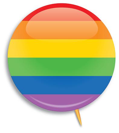 Rainbow Striped Campaign Button