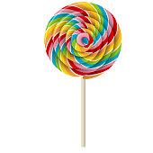 istock rainbow swirl lollipop 1159661284