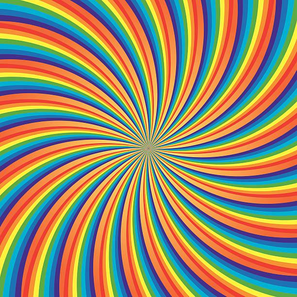 Rainbow Swirl, Vector Illustration vector art illustration