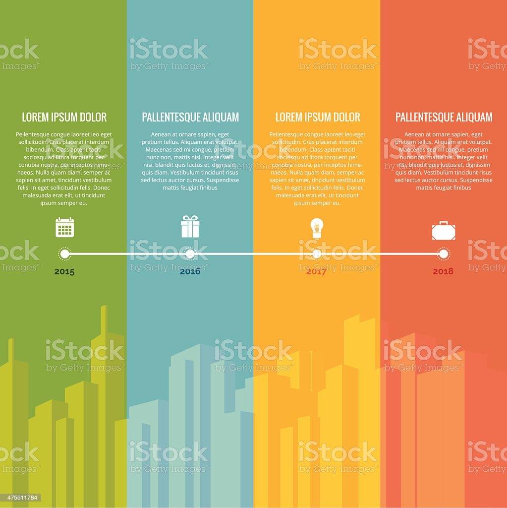 Rainbow Timeline vector art illustration
