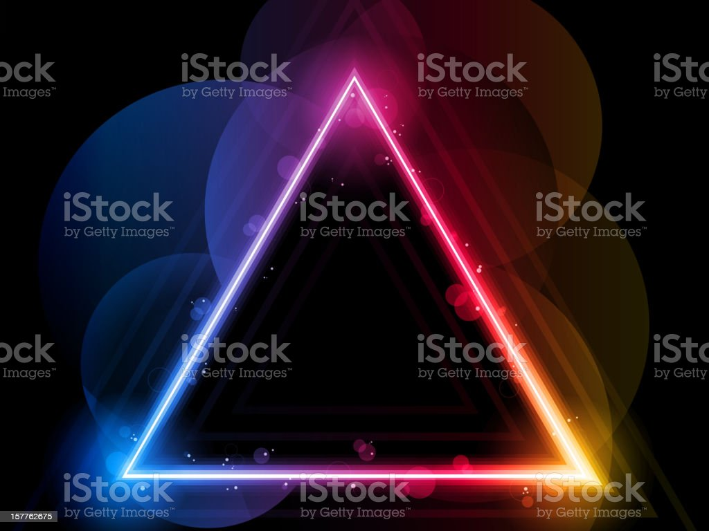Rainbow Triangle Border with Sparkles and Swirls royalty-free stock vector art