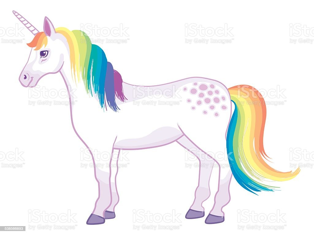 Rainbow Unicorn vector art illustration