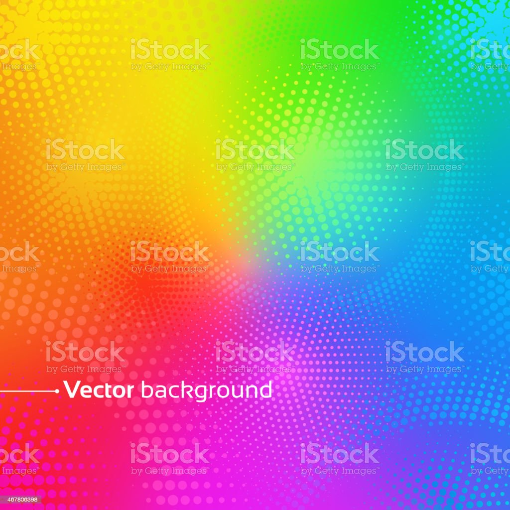 Rainbow vector background with dots. vector art illustration