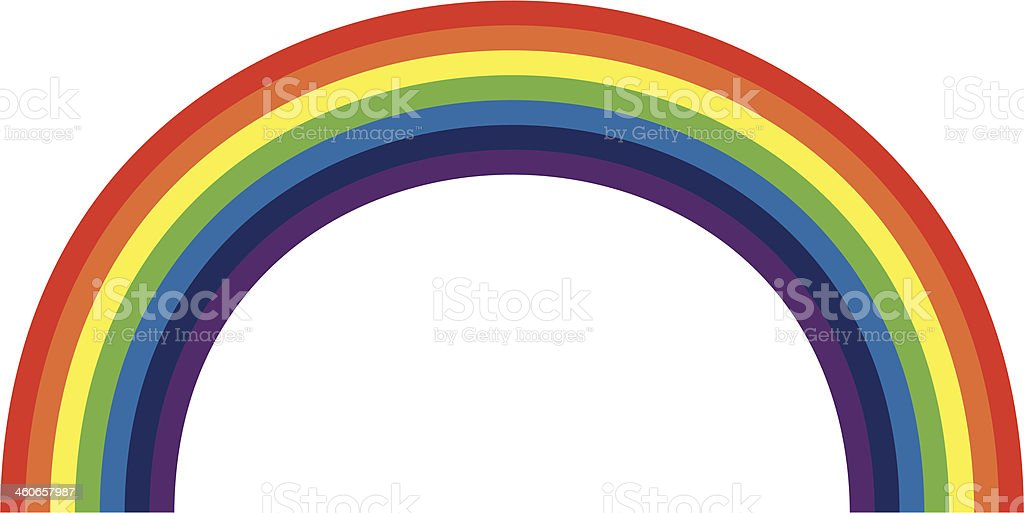 Rainbow vector art illustration