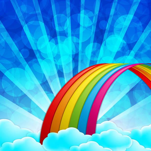 Top Rainbow Sky Clip Art, Vector Graphics and ...
