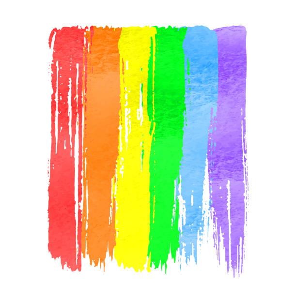 Rainbow vector watercolor hand drawn paint vector art illustration
