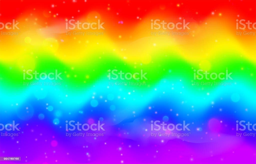 meerjungfrau einhorn galaxy muster mit glnzenden punkte partikel lizenzfreies regenbogen welle hintergrund - Galaxy Muster