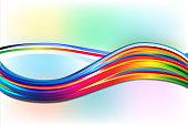 Rainbow waves background vector design template
