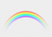 Rainbow with limpid section edge isolated on transparent background