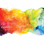 Abstract hand drawn watercolor background,vector illustration. Watercolor composition for scrapbook elements. Watercolor shapes on white background