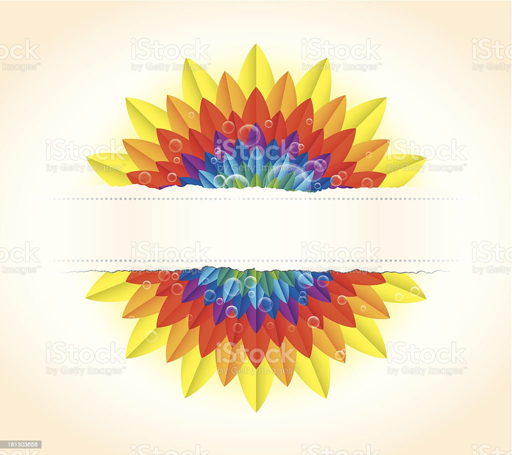 RainbowFlowerCard2 royalty-free rainbowflowercard2 stock vector art & more images of bubble
