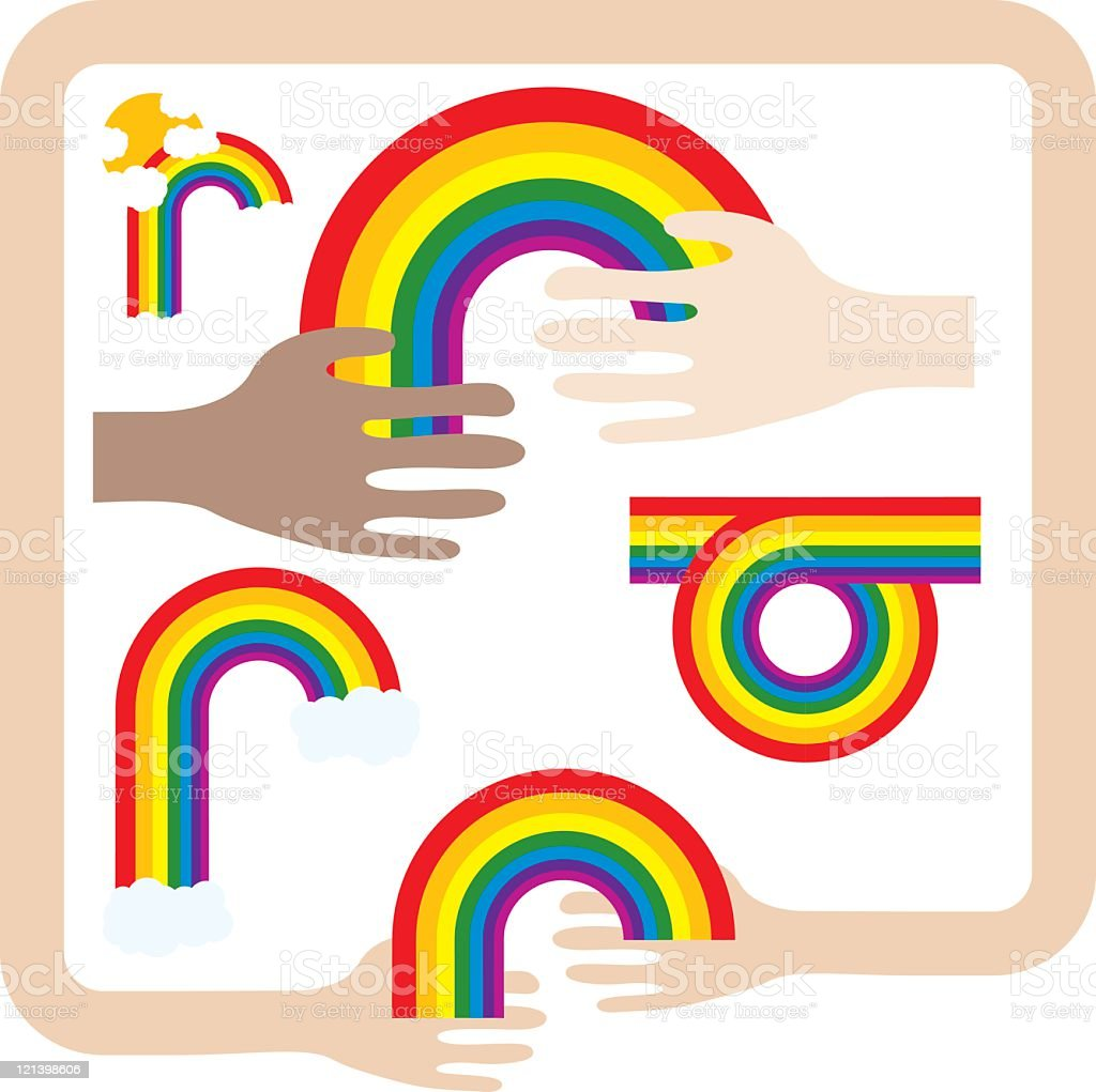 Rainbows royalty-free rainbows stock vector art & more images of agreement