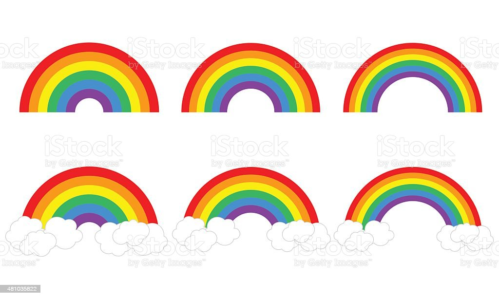 Rainbows vector art illustration
