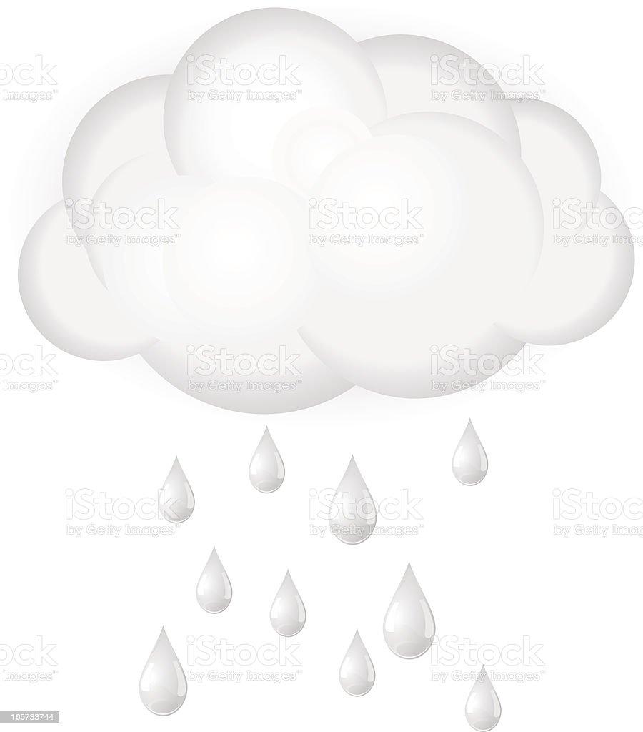 Raincloud and raindrops royalty-free stock vector art