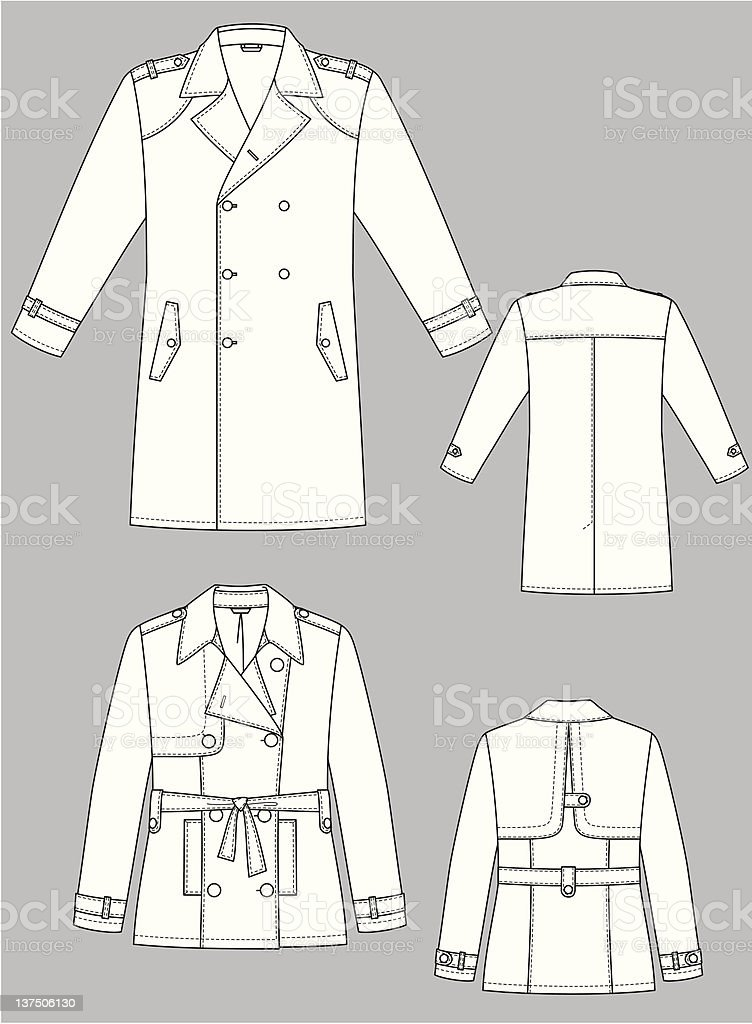 Raincoat for the man royalty-free stock vector art