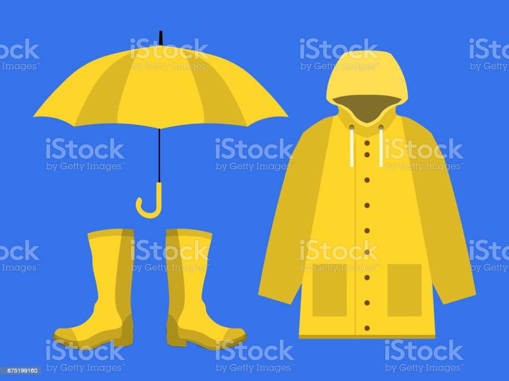 Royalty Free Raincoat Clip Art Vector Images Illustrations Istock