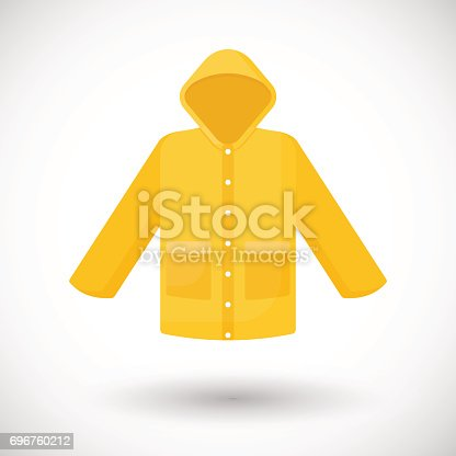 istock Raincoat vector flat icon 696760212