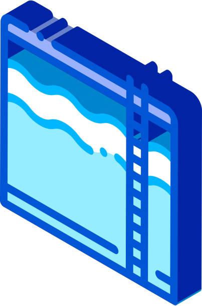 bildbanksillustrationer, clip art samt tecknat material och ikoner med regnande cloud h2o regn isometrisk ikon vektor illustration - dimma png